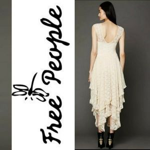New! Free People French Courtship Lace High Low!